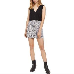 Sanctuary Snakeskin Print Denim Mini Skirt Sz 26
